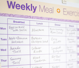 Weekly Meal & Exercise Planner
