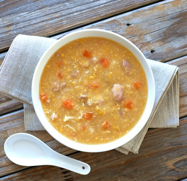 Chicken, Carrot And Sweet Corn Soup