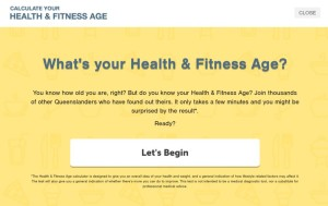 Health and Fitness Age Calculator