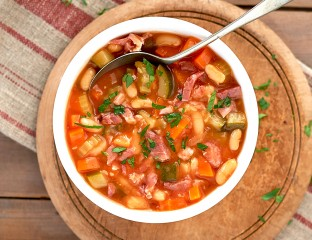 Hearty Bean and Ham Soup