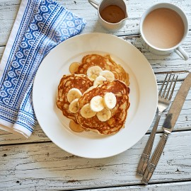 Apple and Banana Hotcakes