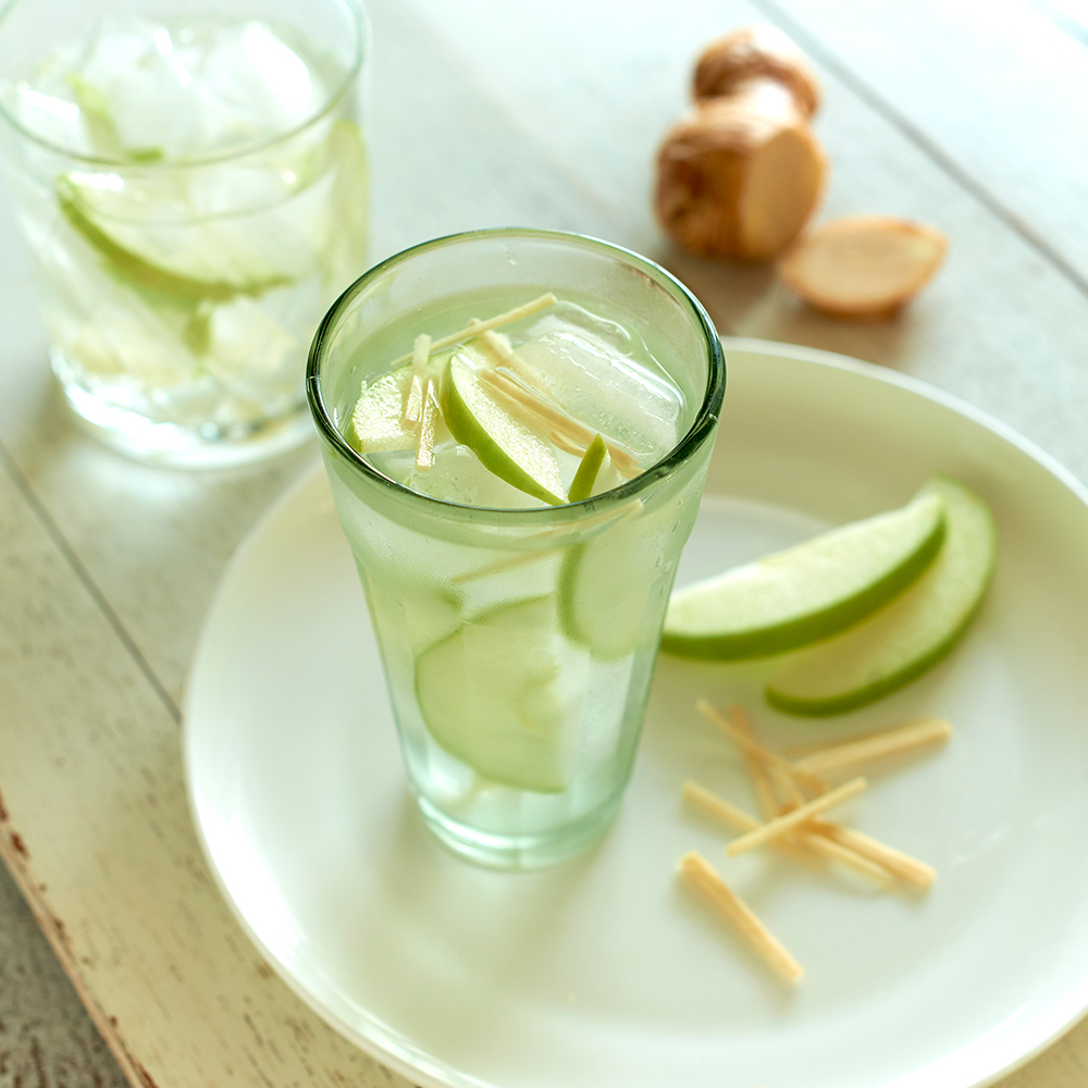 Apple and ginger water