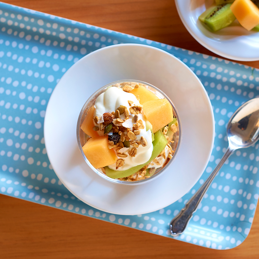 Rockmelon and Kiwi Parfait