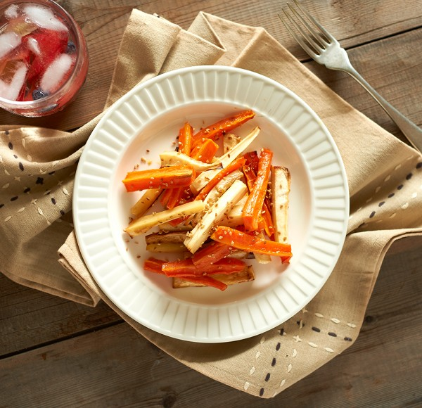Honey glazed carrots and parsnip