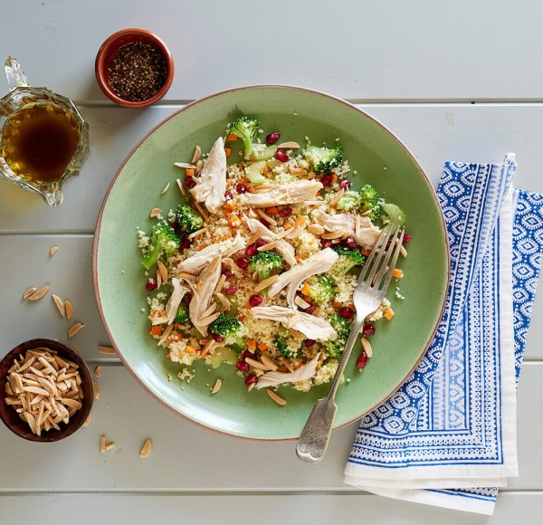 Pomegranate Chicken With Almond Couscous Recipe: Jewelled Couscous Salad