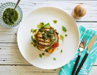 Grilled Chicken and Vege Stack 0001