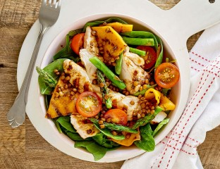 Grilled Pumpkin and Chicken Salad