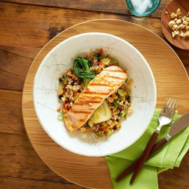 Grilled Salmon And Brown Rice Salad 0001