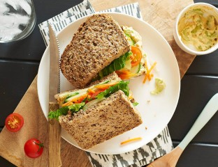 Hummus and Salad Sandwich 0001