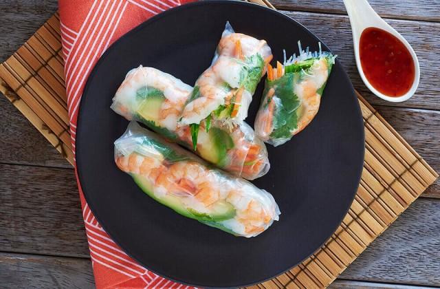 Prawn And Avocado Rice Paper Rolls Recipe Healthier Happier