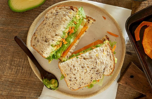 Roast Pumpkin Salad Sandwich 0001