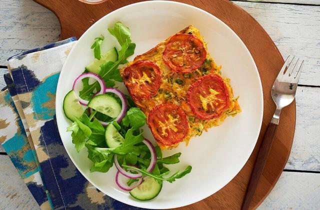 Zucchini Slice Healthier Happier